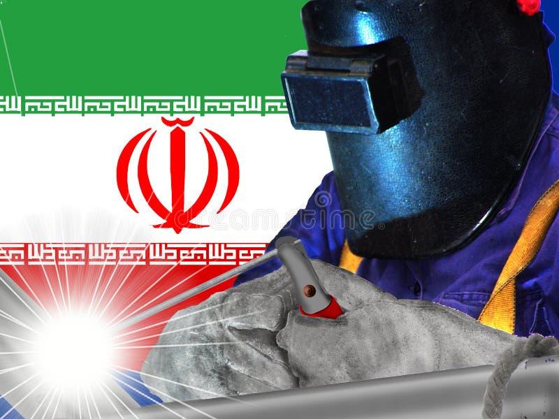 Saldatore dell'iraniano fotografia stock