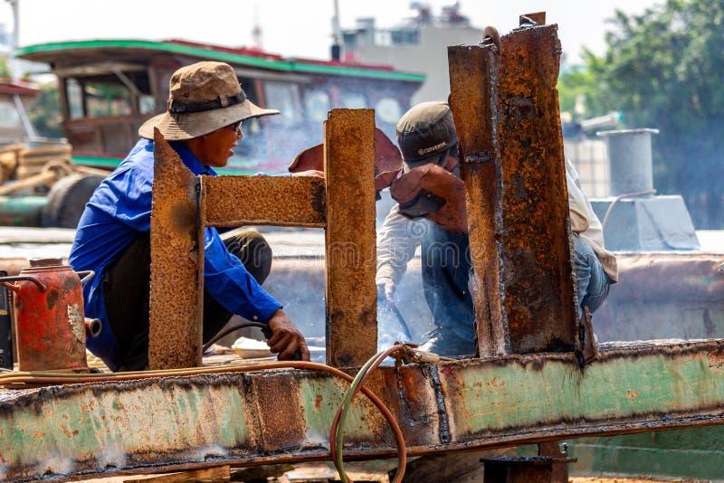 Saldatori Ho Chi Minh City immagine stock