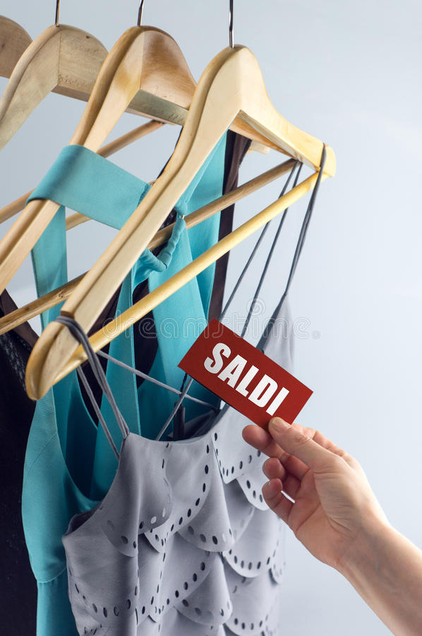 Free Saldi Clothes On Offer Royalty Free Stock Image - 41392066