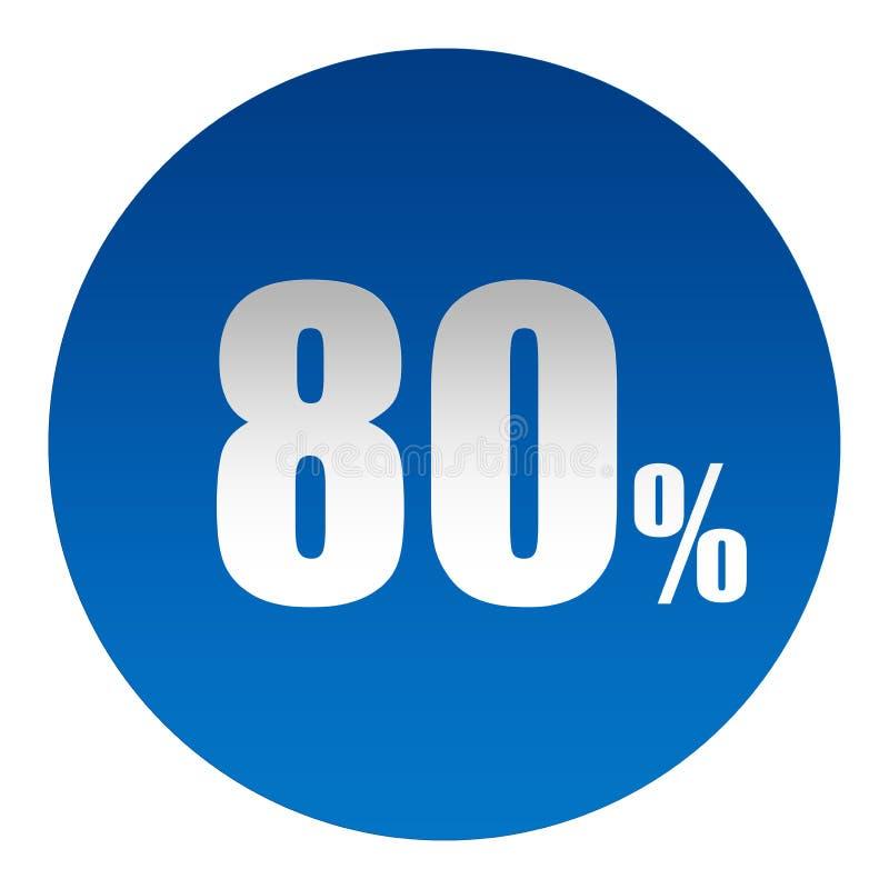Saldon 80 % stock illustrationer