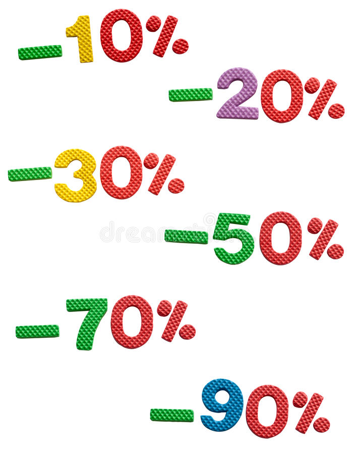 Sale, 10 to 90 % off vector illustration