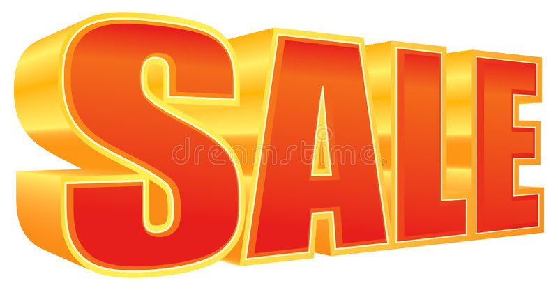 SALE in 3D royalty free illustration