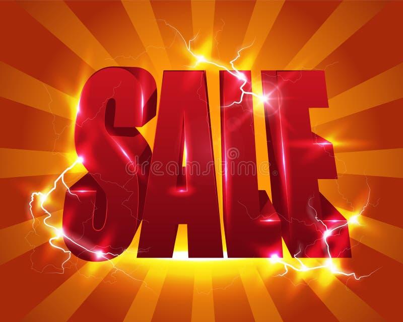 Sale affisch stock illustrationer