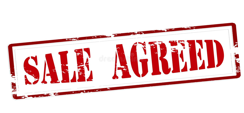Sale agreed stock illustration
