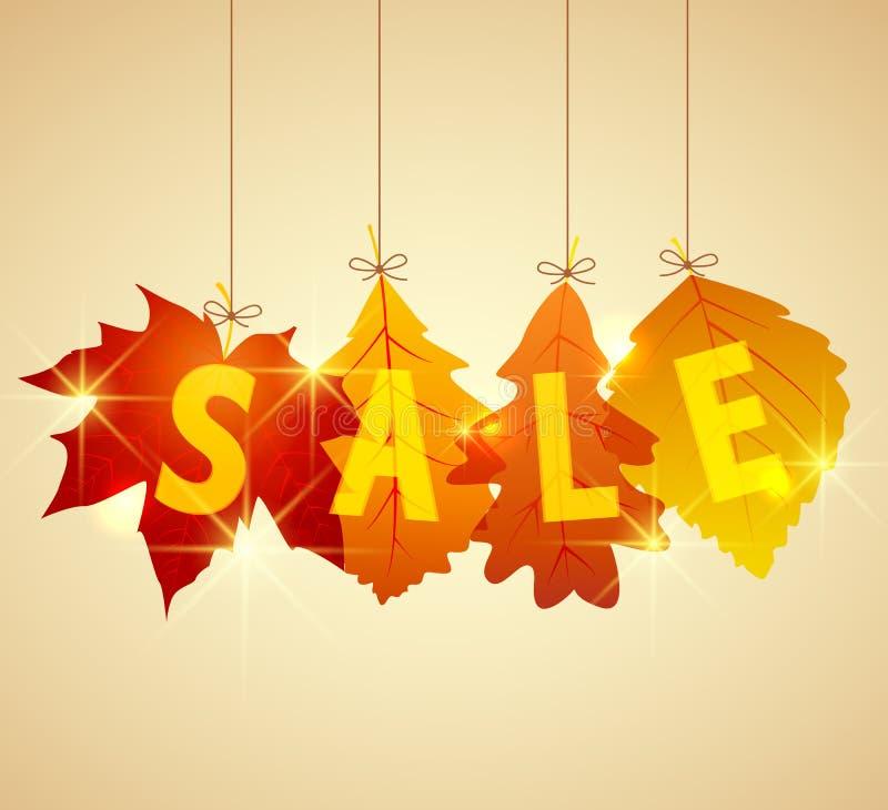 Sale autumn stock illustration