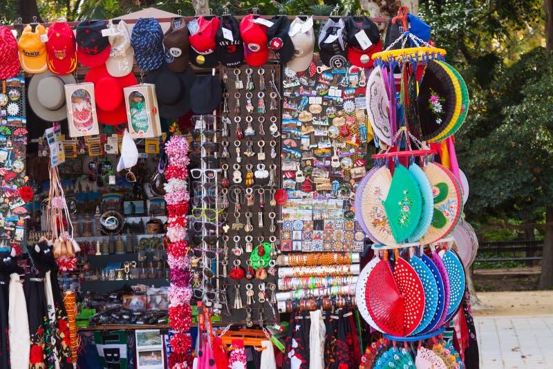 Sale av Seville turistgåvor royaltyfri fotografi