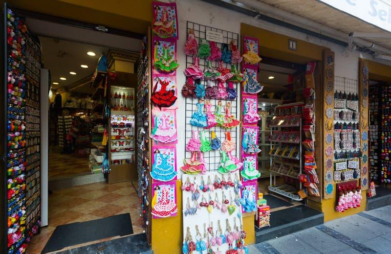 Sale av turist- souvenir i Cordoba arkivfoton