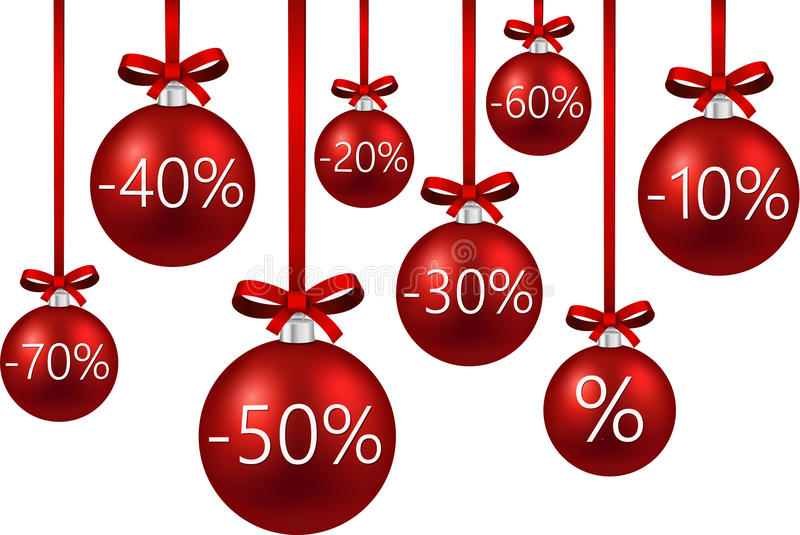 Sale background with christmas balls. stock illustration