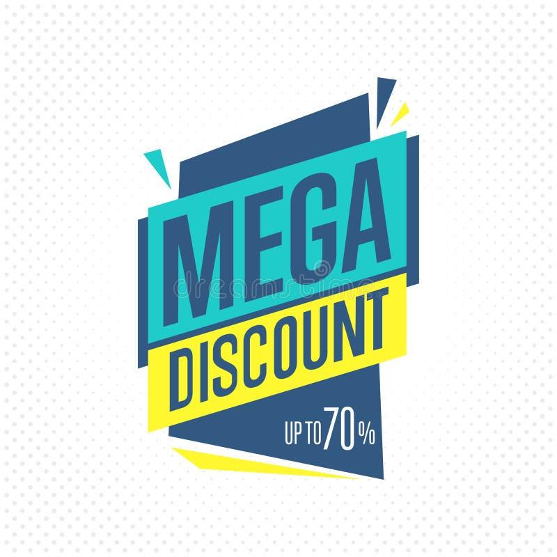 sale badge, label or sticker, raster vector illustration