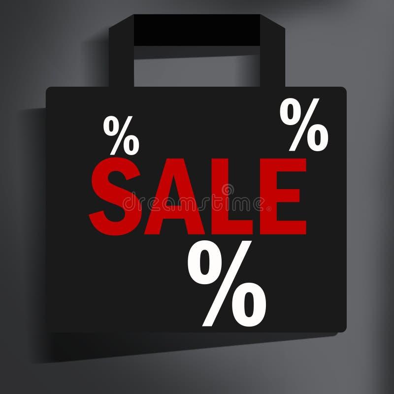 Sale bag. Modern image style stock illustration