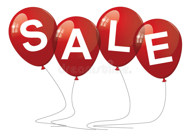 Sale ballonger stock illustrationer