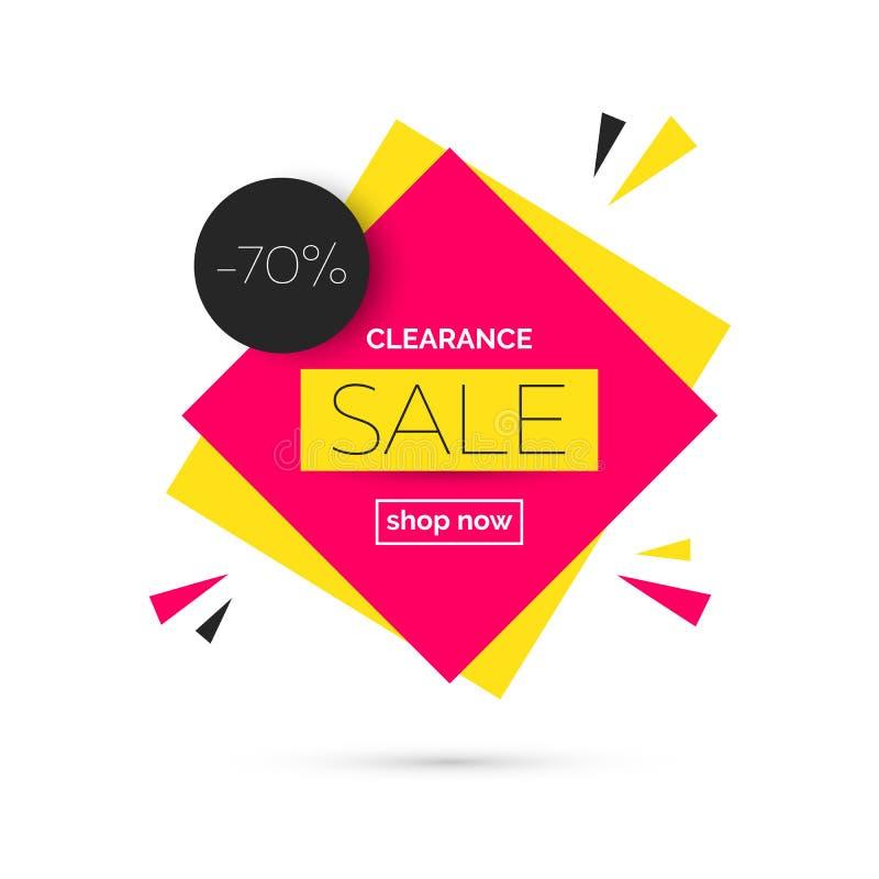 Sale baner, mall för social massmediastolpebefordran royaltyfri illustrationer