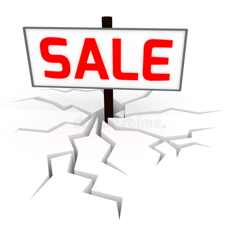 Sale banner 3D stock illustration