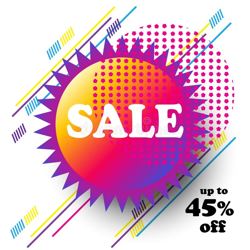 Sale banner festival travel abstract sign royalty free illustration