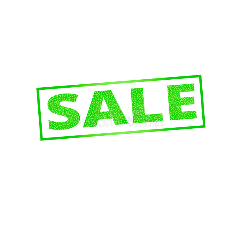 Sale banner.The green texture of the letters. Vector stock illustration