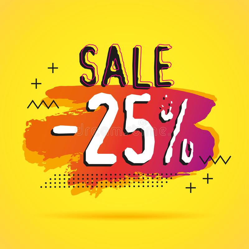 Discount sale 25%  banners template vector illustration
