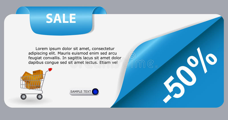 Download Sale Banner With Place For Your Text. Vector Stock Vector - Illustration of collection, button: 28544794