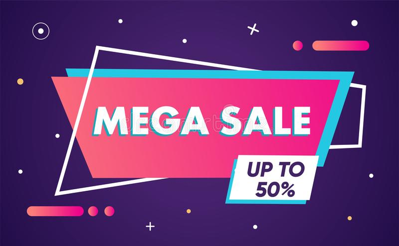 Sale banner template design material design, sale special offer. End of season special offer banner. vector illustration royalty free illustration