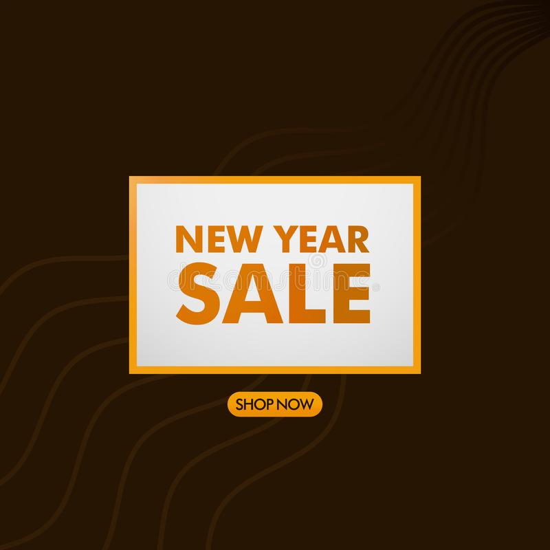 Sale banner template design, New Year sale special offer banner. Illustration of New Year Template for Website, Retail or Online vector illustration