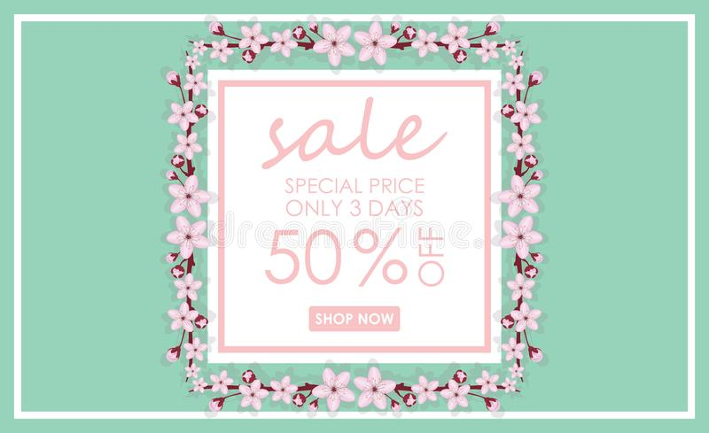 Sale banner template design. Vector illustrations for website and mobile website banners, posters, email and newsletter designs, a royalty free illustration