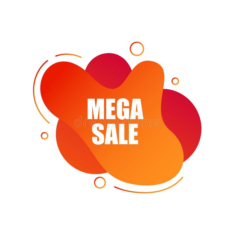 Sale banner vector illustration. Discounts and promotional Mega sale offers design template. Promotional offer web stock photo