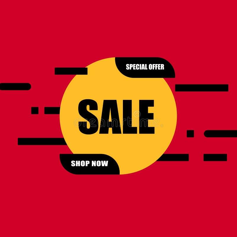 Sale banner vector illustration. Discounts and promotional Mega sale offers design template. Promotional offer web stock images