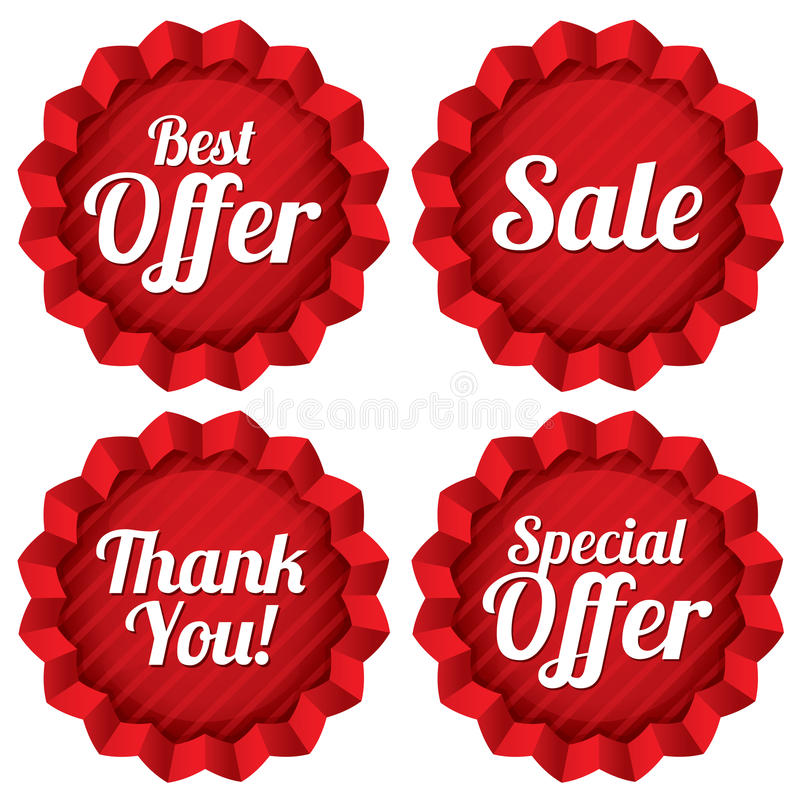 Download Sale, Best Offer, Special Offer, Thank You Tag Set Stock Vector - Image: 34569498