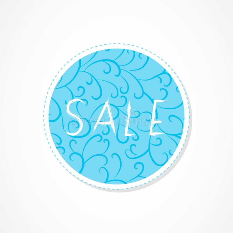 Sale, Big sale, For you, Super sale, Discounts inscription on decorative round backgrounds with abstract pattern. Hand drawn lettering. Vector illustration royalty free illustration