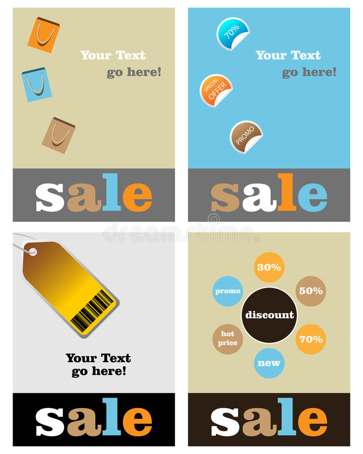 Download Sale brochure template stock vector. Image of background - 14118220