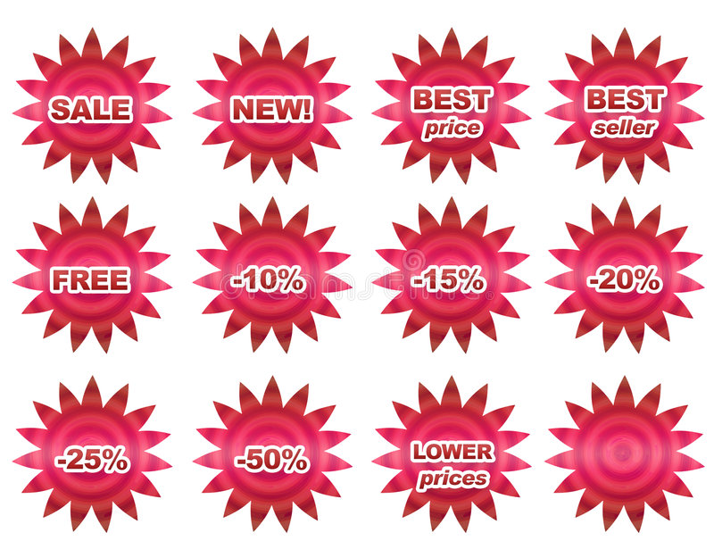 Sale buttons stock illustration