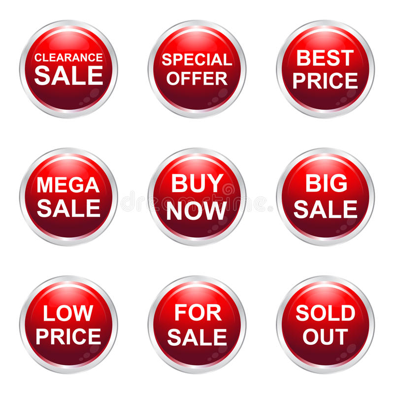 Download Sale Buttons Stock Images - Image: 32178584