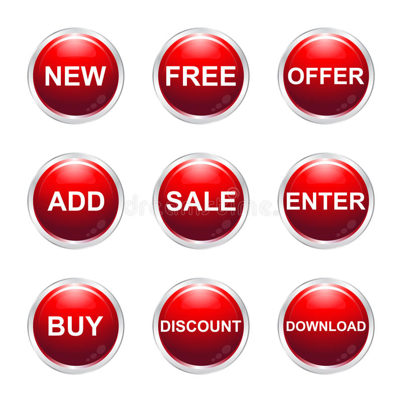 Sale buttons royalty free illustration