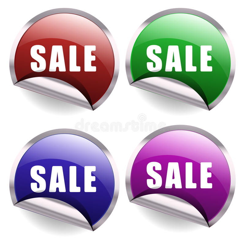 Download Sale Buttons stock vector. Image of background, advertising - 35338096