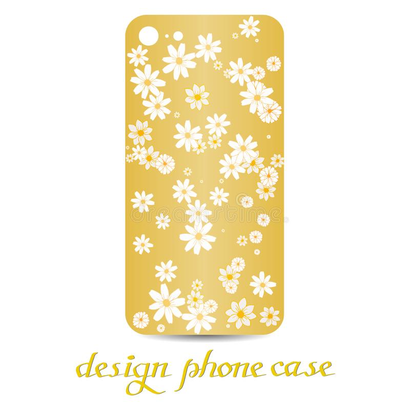 Design phone case. Phone cases are floral decorated. Vintage decorative elements. royalty free illustration