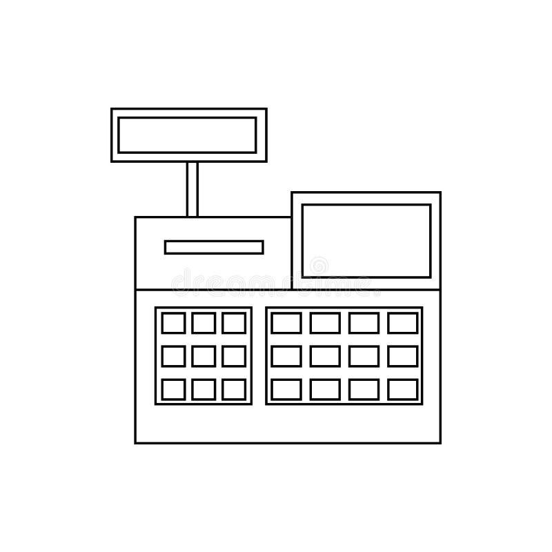 Sale cash register icon, outline style royalty free illustration