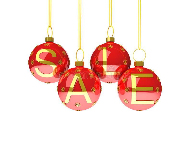 Download Sale With Christmas Decoration Royalty Free Stock Photography - Image: 22408577