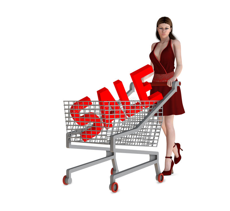 Sale concept (consumerism) royalty free illustration