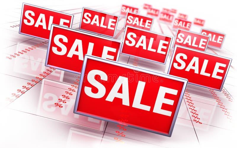 Sale concept. 3D illustration of a sale concept stock illustration