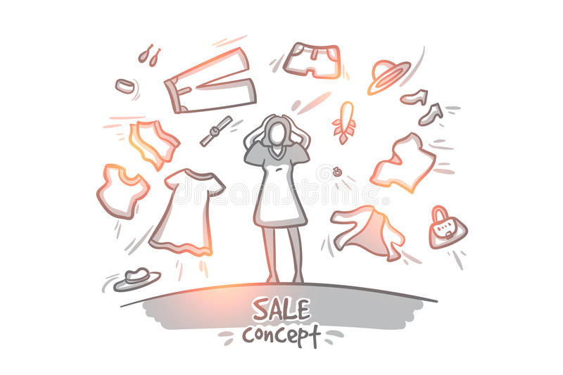 Sale concept. Hand drawn isolated vector. vector illustration
