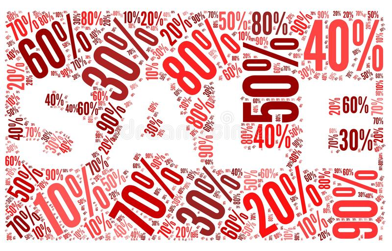Download Sale Concept In Word Tag Cloud Stock Illustration - Image: 26454970