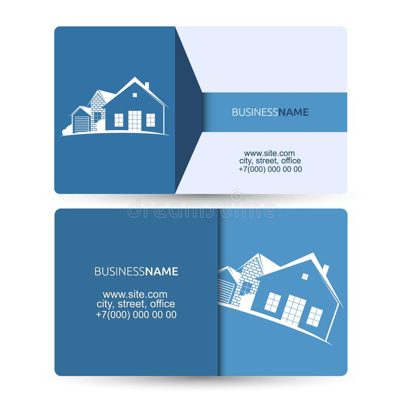 Download Sale And Construction Of Housing Business Card Stock Vector