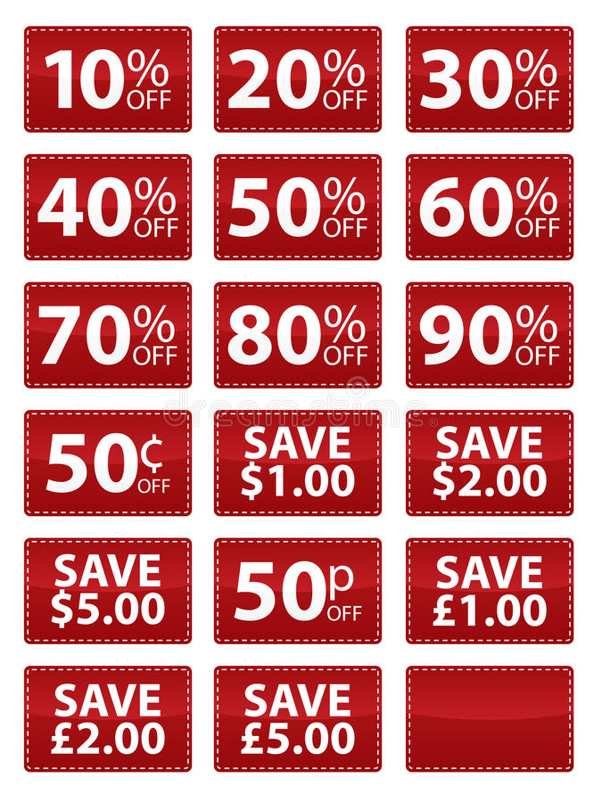 Free Sale Coupons EPS Stock Images - 15817344