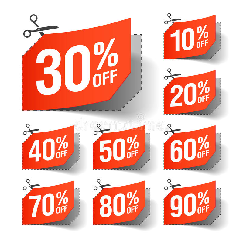 Sale coupons royalty free illustration