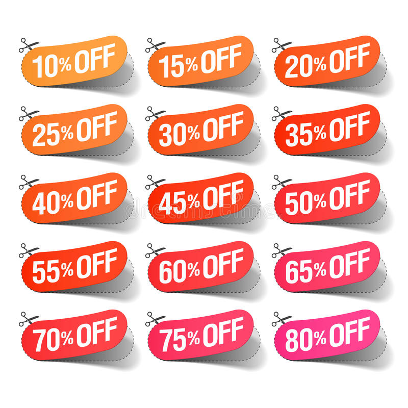 Sale coupons stock illustration