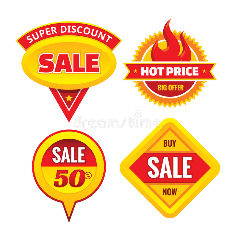 Sale - creative vector badges set. Special discount vector badges collection. Super offer concept stickers. stock illustration