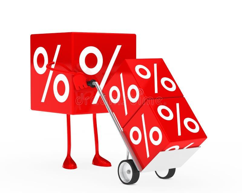 Sale Cube Figure Stock Photos