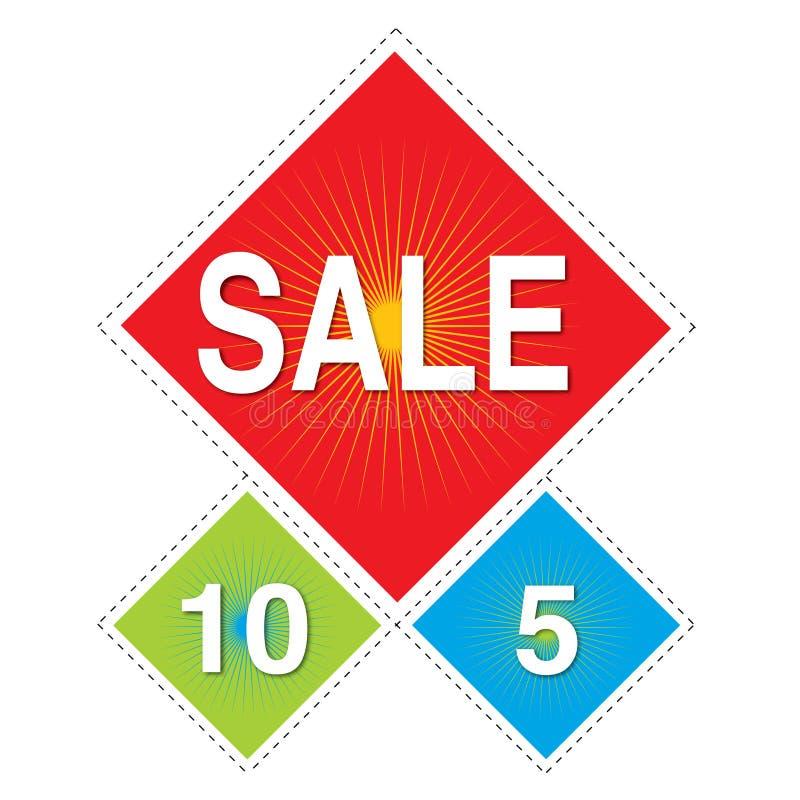 Sale dangler - Hanging Kite Shped stock illustration