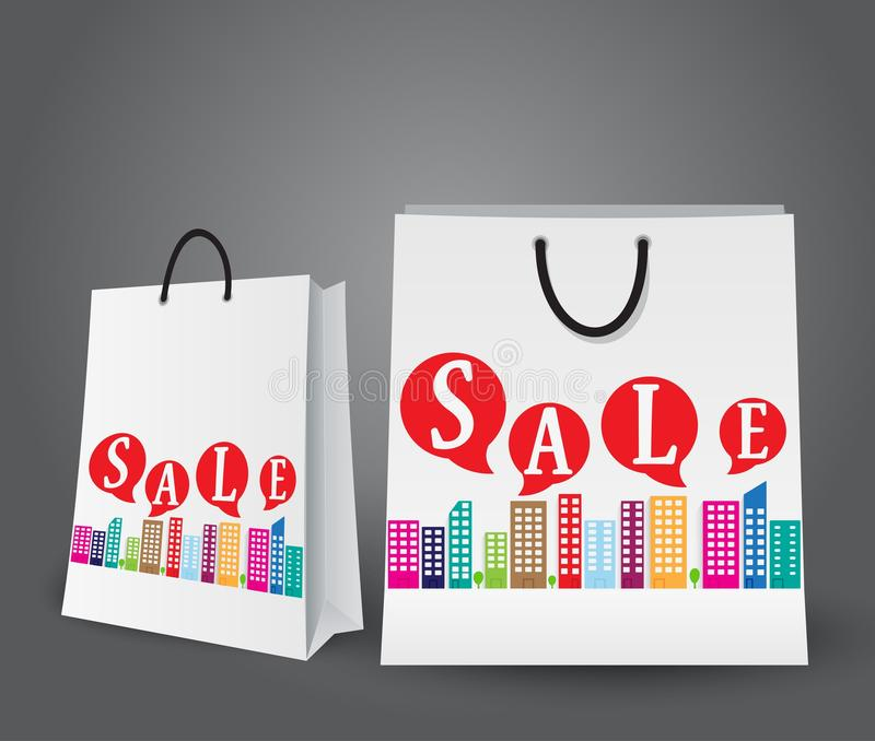 Sale design with shopping bags royalty free illustration