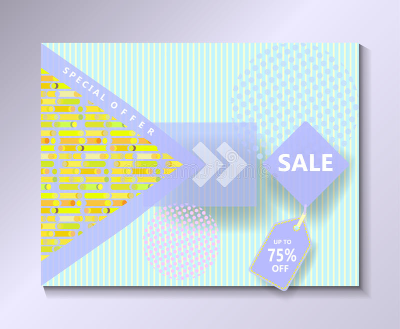 Sale discount banner abstract geometric background sign tag vector template royalty free illustration