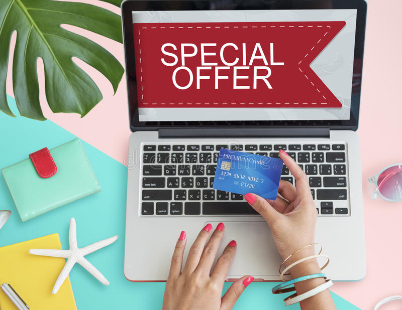 Sale Discount Promotion Special Offer Graphic Concept royalty free stock image
